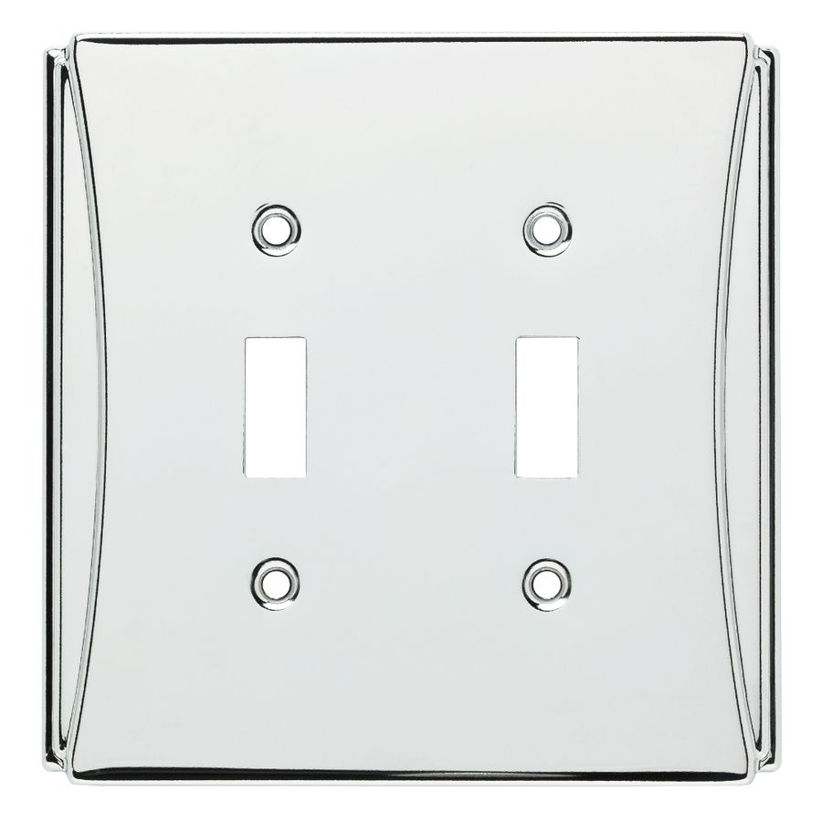 Brainerd Upton 2 Gang Polished Chrome Double Toggle Standard Wall Plate Lowes Com Plates On Wall Polished Chrome Chrome