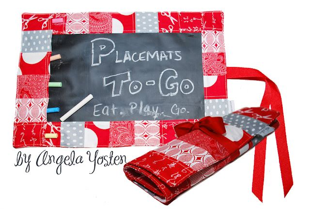 Placemats To Go Placemats Sewing For Kids Chalkboard Fabric