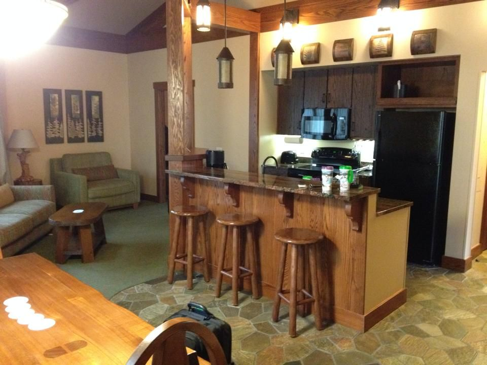 Treehouse Villas At Disney Part - 23: Kitchen/Dining/Living Room - The Treehouse Villas At Disneyu0027s Saratoga  Springs Resort And