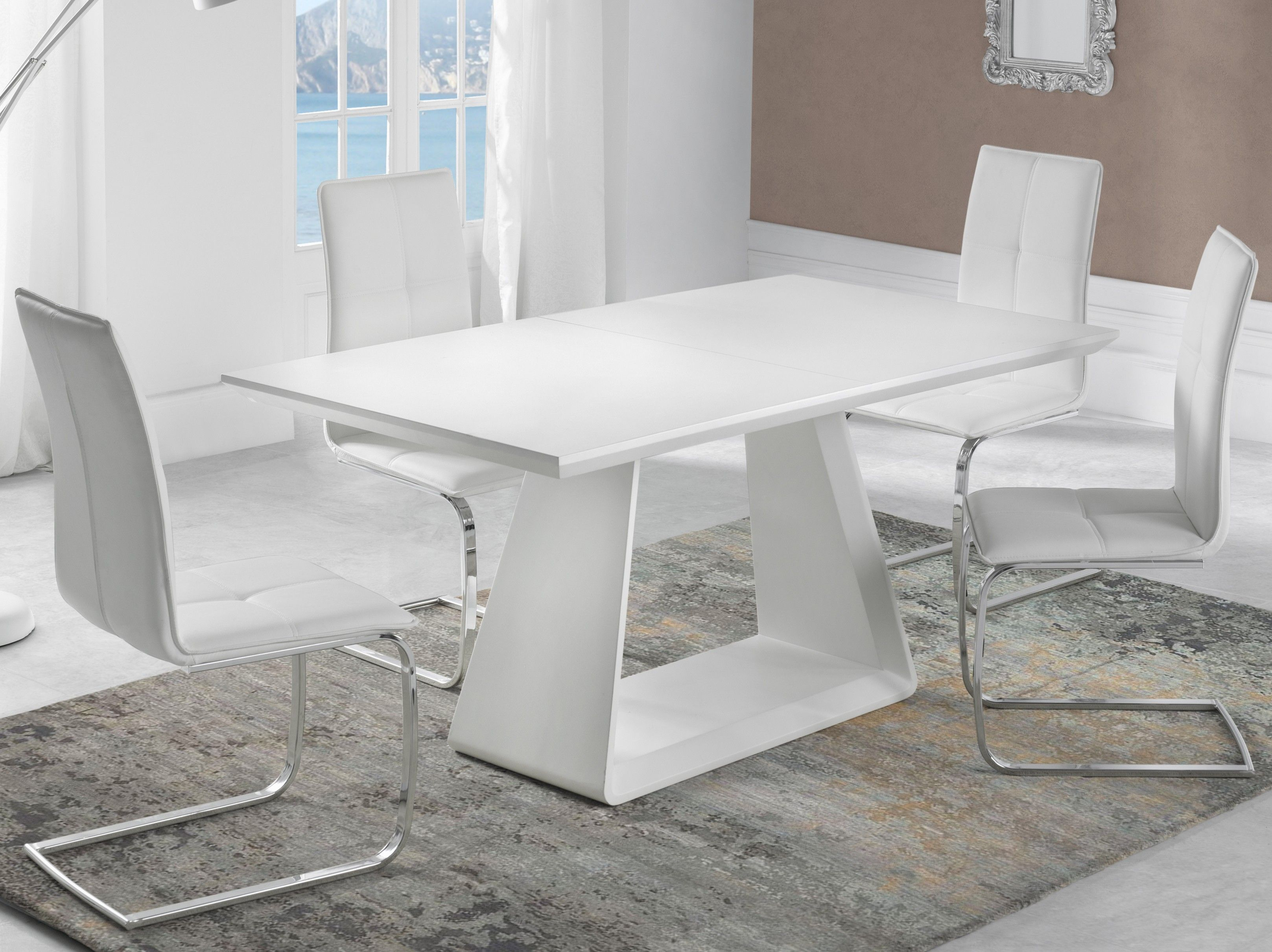table a manger extensible pied central