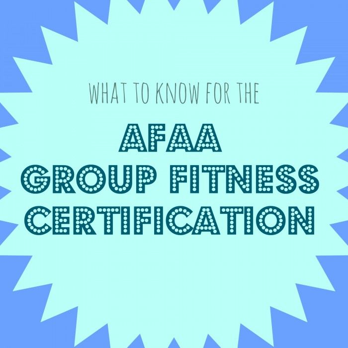 fitness afaa certification instructor