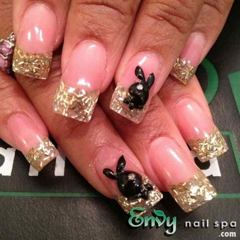 Playboy flared nail art gallery by nails magazine pop playboy nail art by envynailspa nail art prinsesfo Image collections