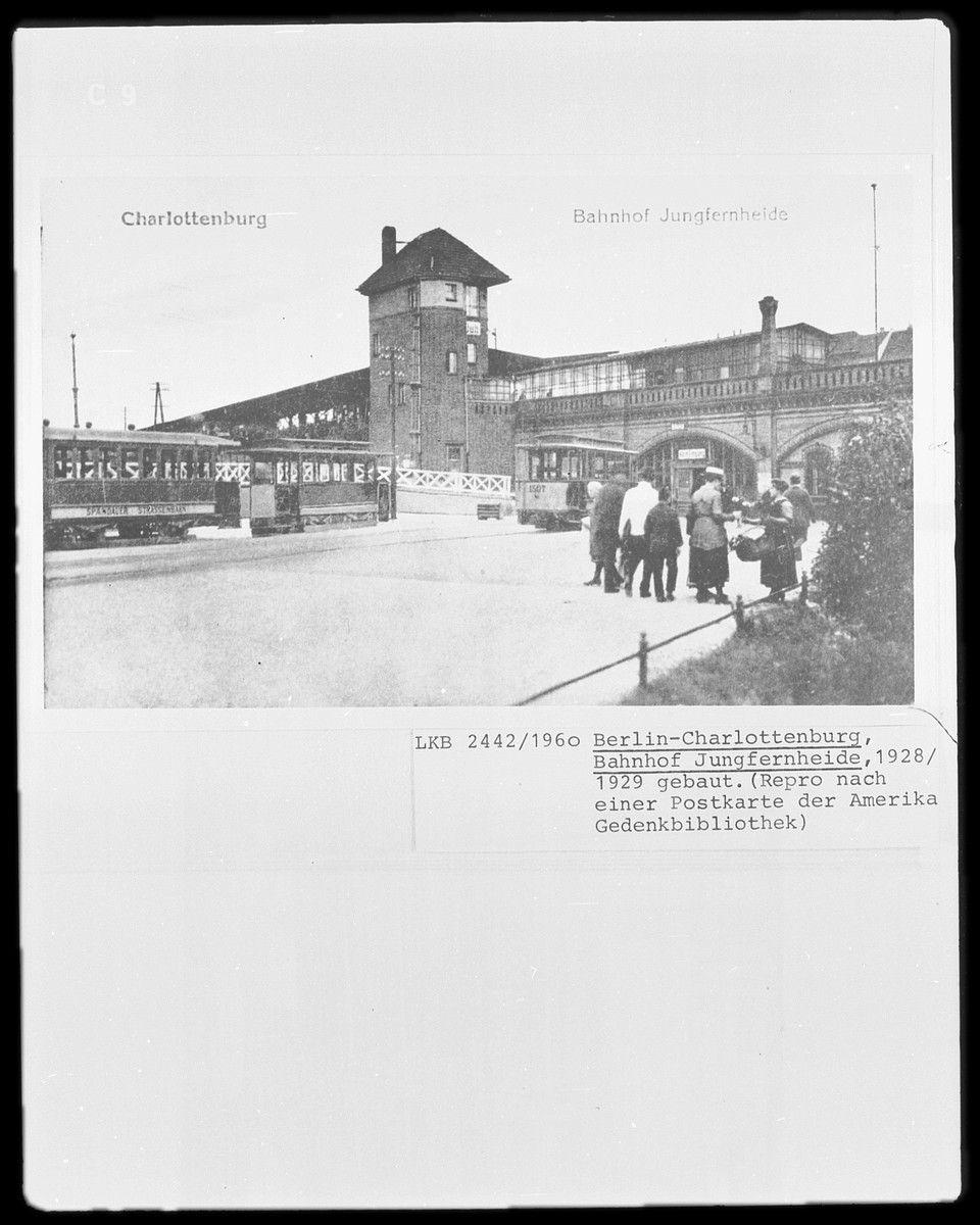 1928 1929 Bahnhof Jungfernheide Berlin Charlottenburg Berlin Stadt Berlin Bahnhof