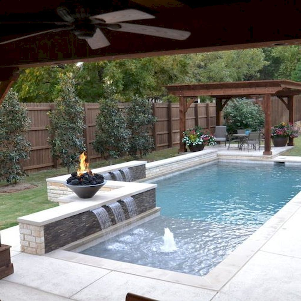 Swimming Pool Ideas For A Small Backyard 80 Backyard Pool Landscaping Small Backyard Pools Pool Houses