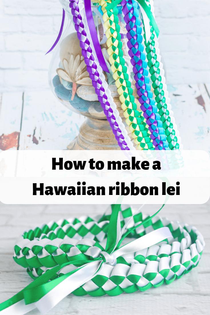 How to Make a Braided Hawaiian Ribbon Lei #ribboncrafts