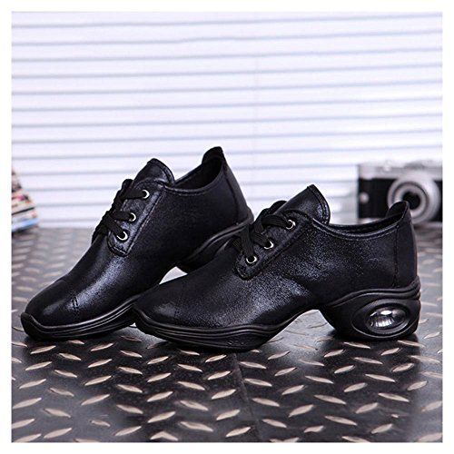 New Women Jazz Modern Square Dance Shoes Lace Up Split Sole Sneakers Trainers Main Colorblack Main Size36us 55 You Can Sole Sneakers Shoe Laces Dance Shoes