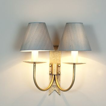 Double Cottage Wall Light In Antiqued Brass Traditional Wall Lighting Wall Lights Wall Lamps Living Room