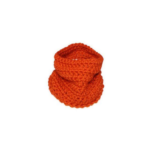 Unisex Chunky Wool Blend Cowl Orange by SuiteIdeas on Etsy ($25) via Polyvore