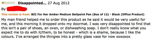 12 Hilarious Reviews Of A Pen Just For Women