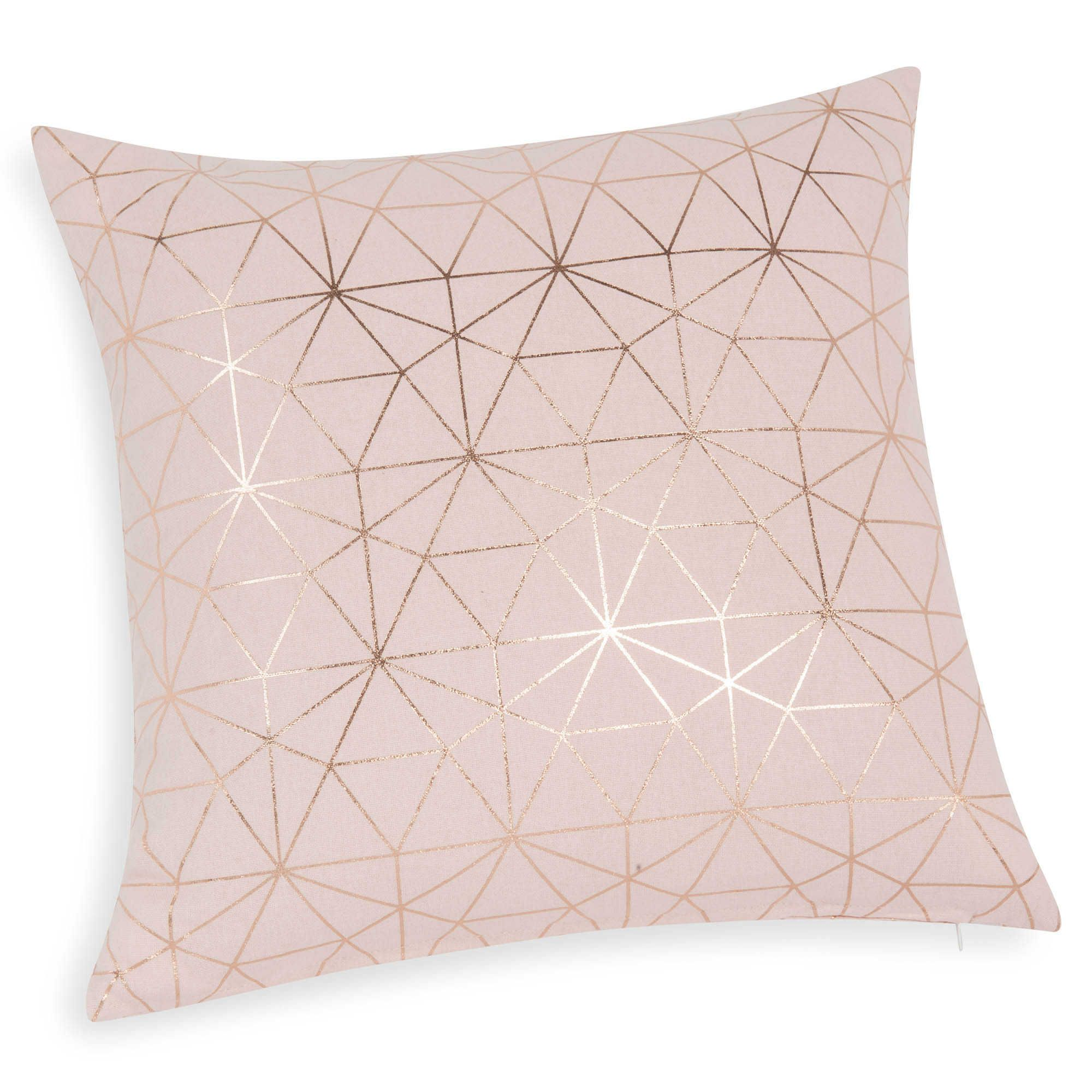 Pink cotton cushion cover 40 x 40 cm rose gold for Deko rosegold