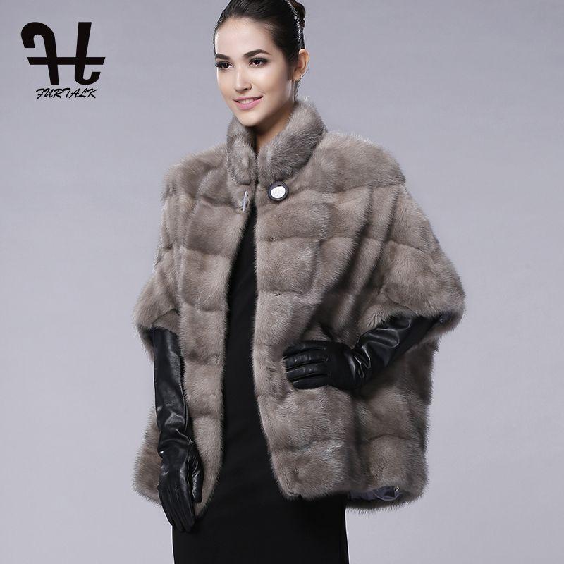 2fff9e55d Click to Buy << FURTALK brand Russian Winter Womens Real natural mink fur  coat for women winter fur coats genuine mink fur vest hot sale #Affiliate