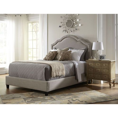 Evelyn Upholstered Queen Bed in Taupe
