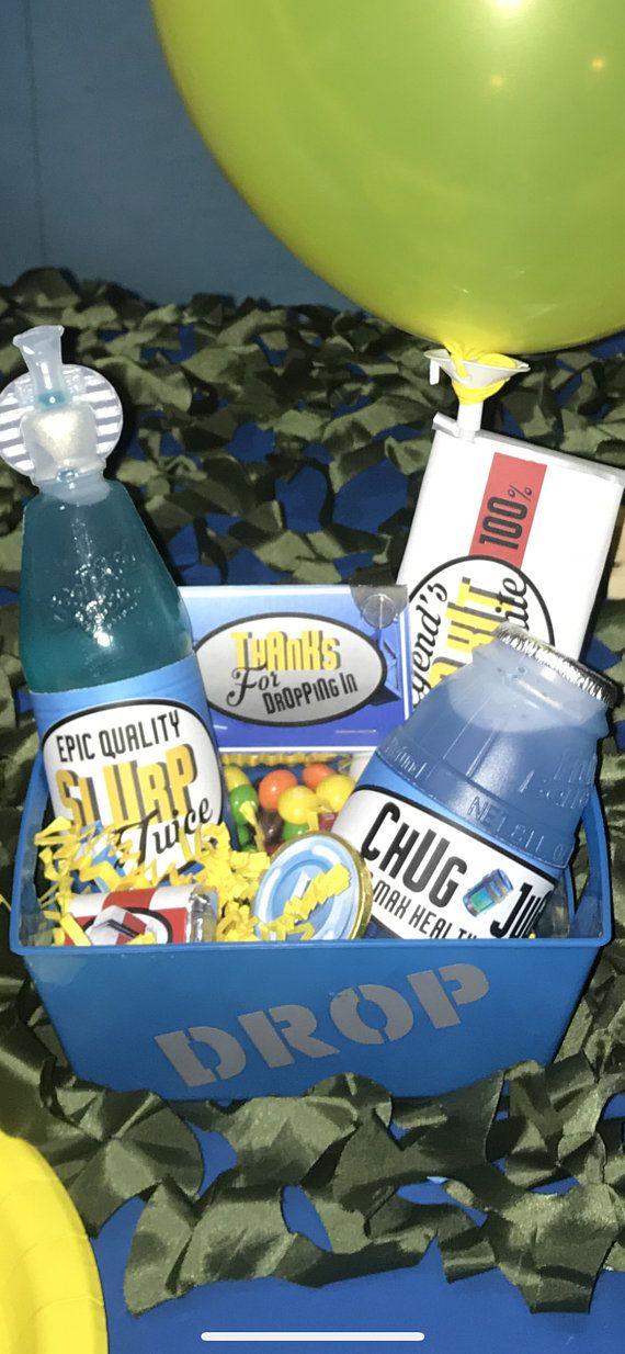 Fortnite Birthday Party Chug Jug Printable Bottle Wraps Birthday