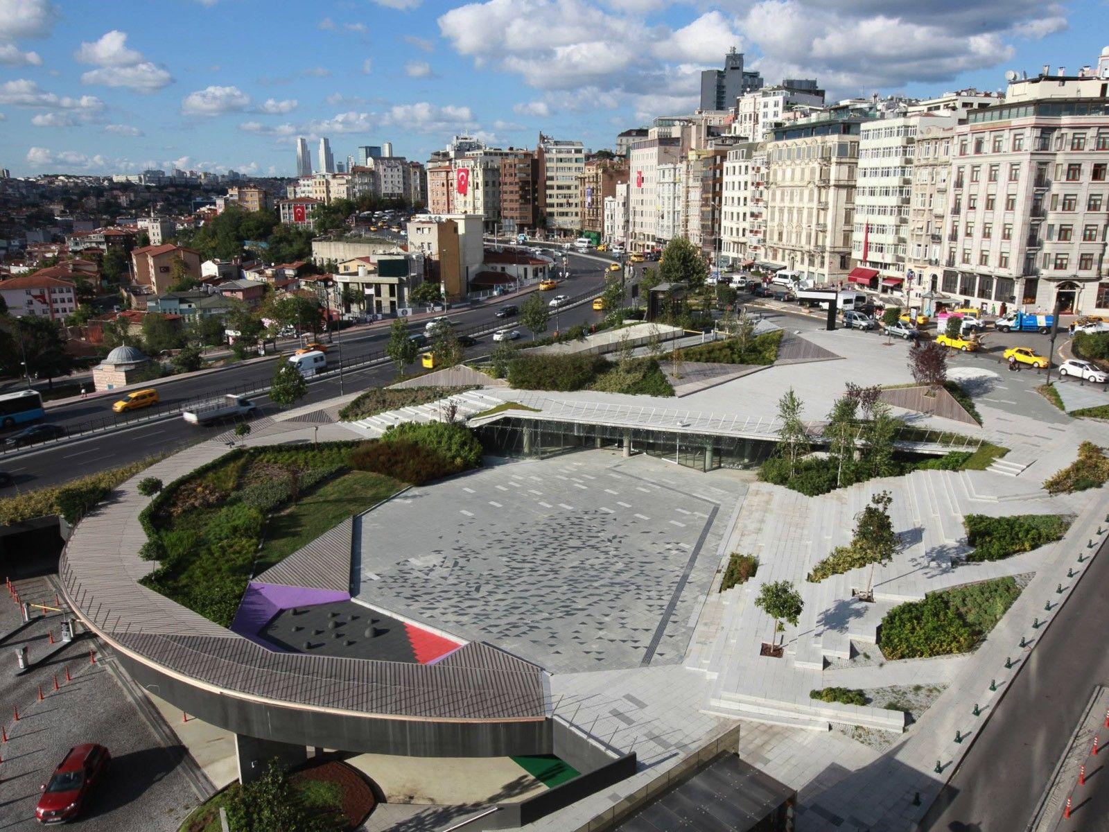 Underground Parking Lost Into The Landscape Sishane Park