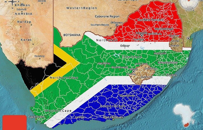 south africa map facts