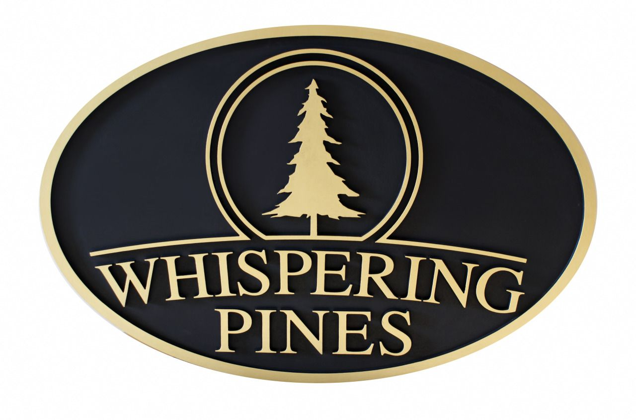 personalized outdoor signs for whispering pines home custom