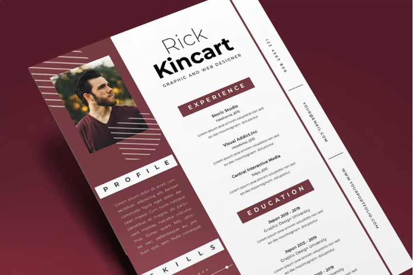 25+ Attractive (EyeCatching) Resume (CV) Templates With