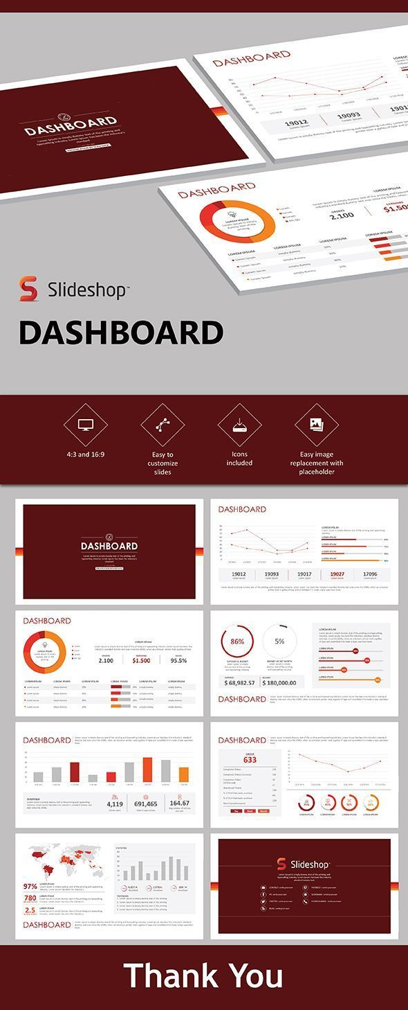 Dashboard Powerpoint Templates Presentation Templates