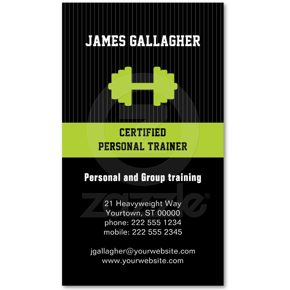 Personal Trainer Business Card | Personal trainer, Business cards ...