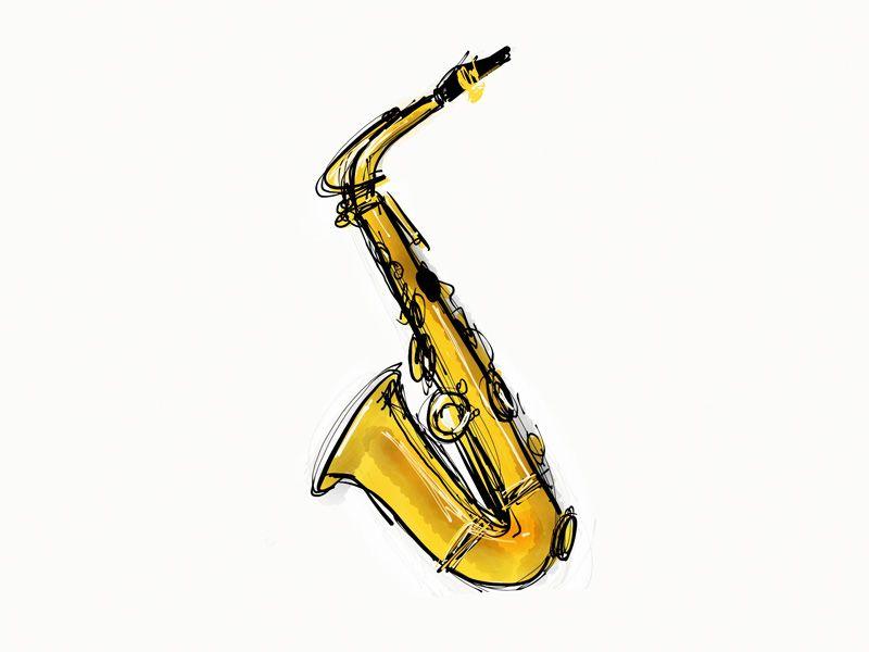 Photos saxophone tenor dessin page 2 blog l 39 art - Saxophone dessin ...