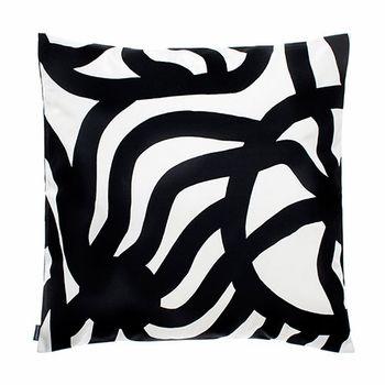 Marimekko Joonas White Black Outdoor Throw Pillow
