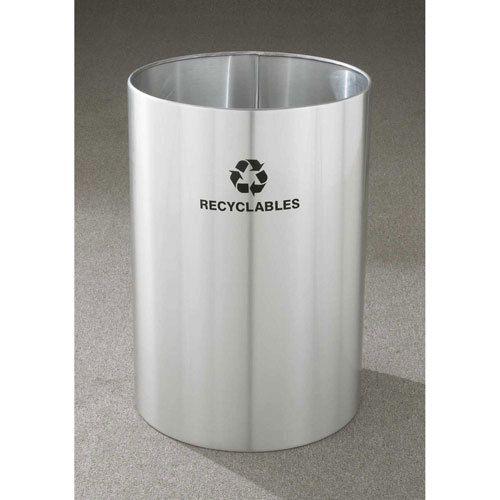 39 Gallon 20 X 29 Large Open Top Recycle Bin Satin Aluminum Ro 2029sa Recycling Bins Trash And Recycling Bin Industrial Recycling Bins