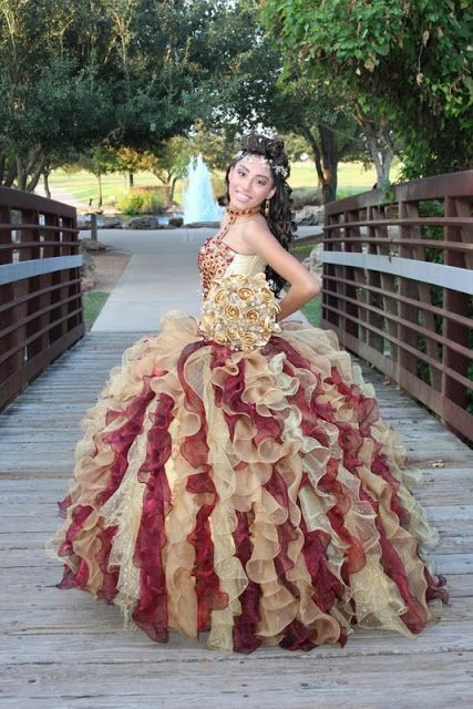 Coffee And Maroon Quinceanera Dress Not For Me