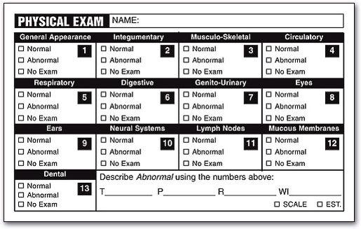 Physical Exam Checklist Medicine Doctor Physics Family Medicine