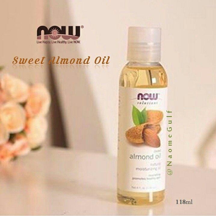 زيت اللوز الحلو من ناو عبارة عن سائل نقي ذهبي اللون ليس له أي رائحة سوى القليل جدا من رائحة الجوز تكاد لاتظهر يستخدم للبشرة الشع Oils Skin Care Skin