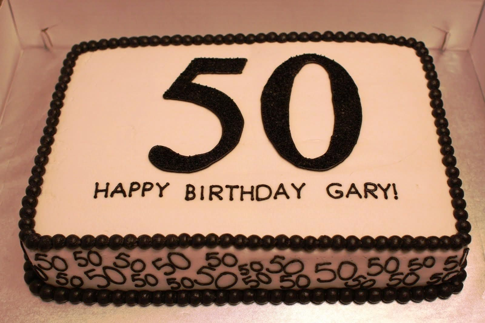 Image of Pictures Of 50th Birthday Cakes For Man Aniversrios