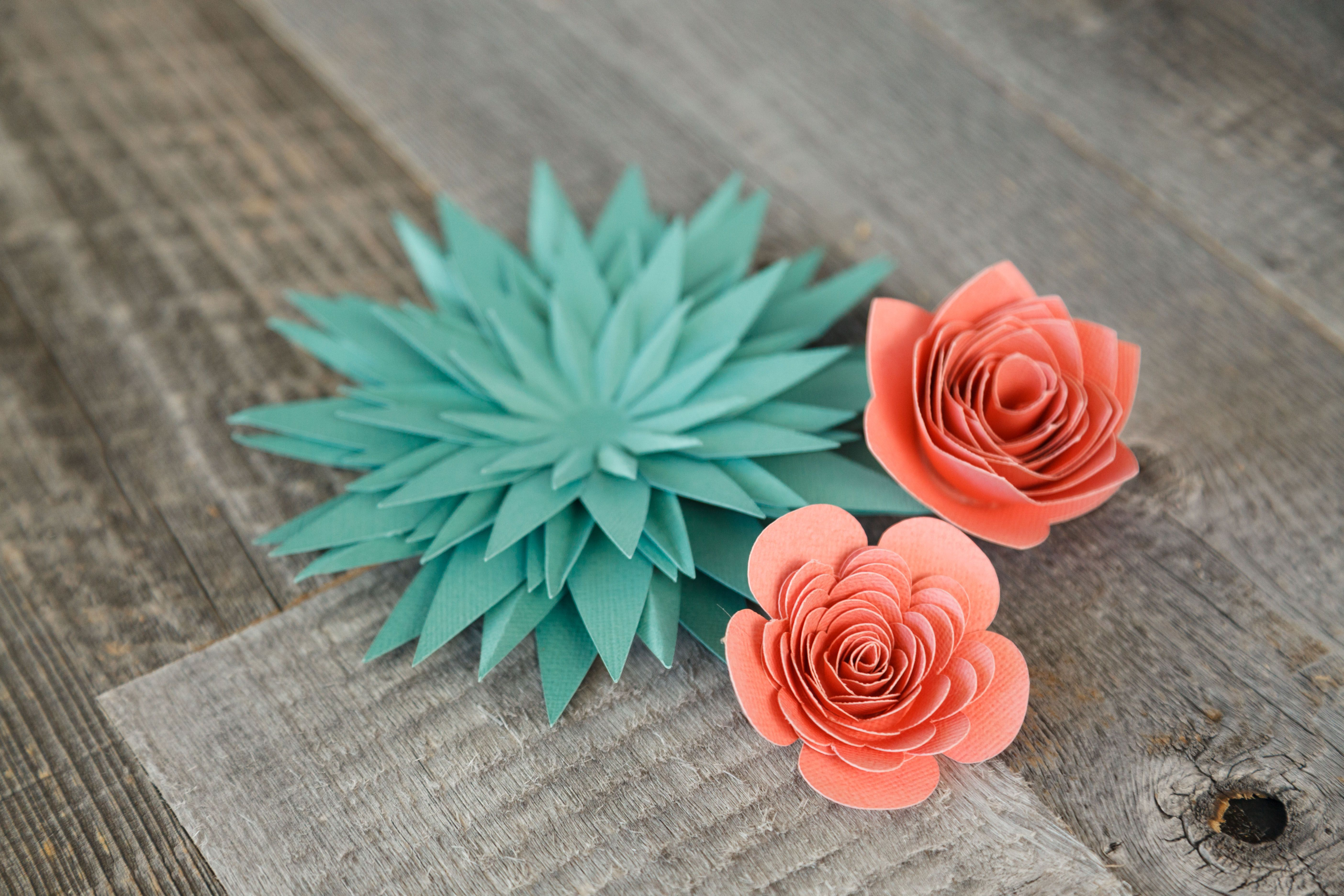 Paper Flowers Make Them Now With The Cricut Explore Air Machine In