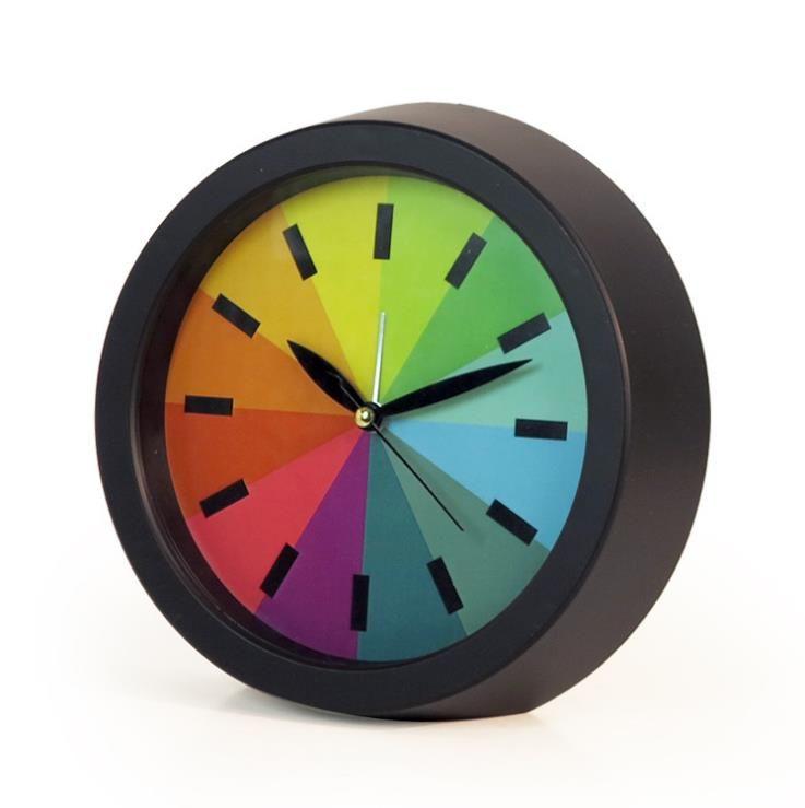 Creative Silence Rainbow Colorful Alarm Desk Modern Office Gift - wanduhren wohnzimmer modern