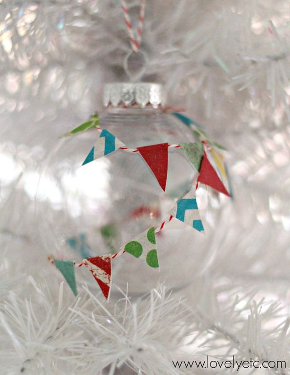 DIY paper pennant ornament - fun and easy to make