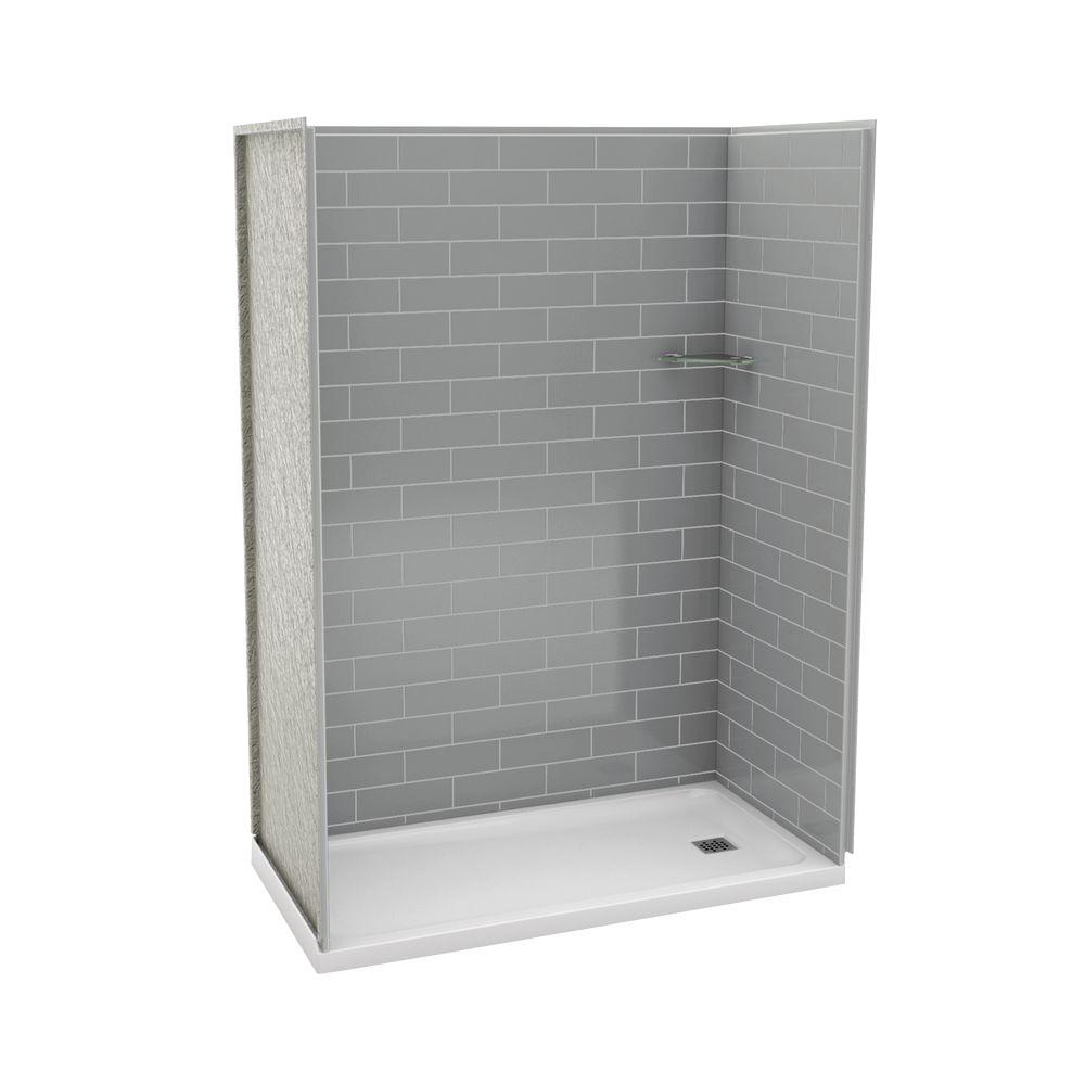 Maax Utile Metro 32 In X 60 In X 83 5 In Alcove Shower Stall In