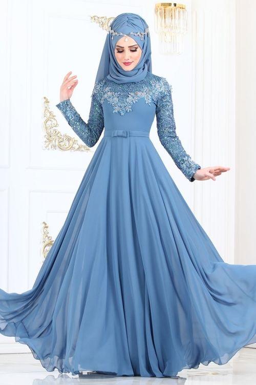 Modaselvim Abiye Gupuru Tas Ve Incili Abiye 8922w153 Mavi Elbise Elbiseler Elbise Modelleri