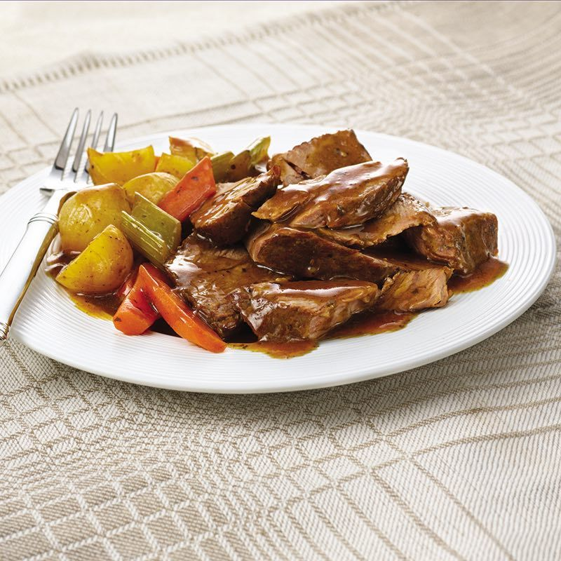 Savory aromas entice you as this easy meal-in-one gently simmers in the slow cooker. Choose a boneless chuck roast for the richest taste or a rump...