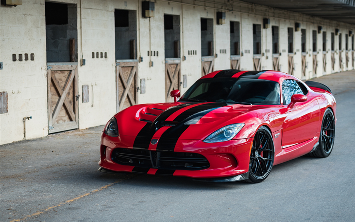 Download Wallpapers Dodge Viper GTS Lightweight Red Sports - American sports cars