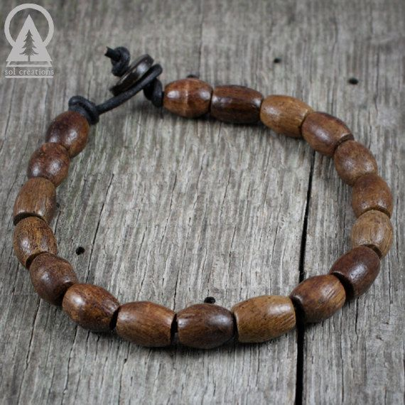 Mens Beaded Bracelet Men S Surfer Wooden Beads