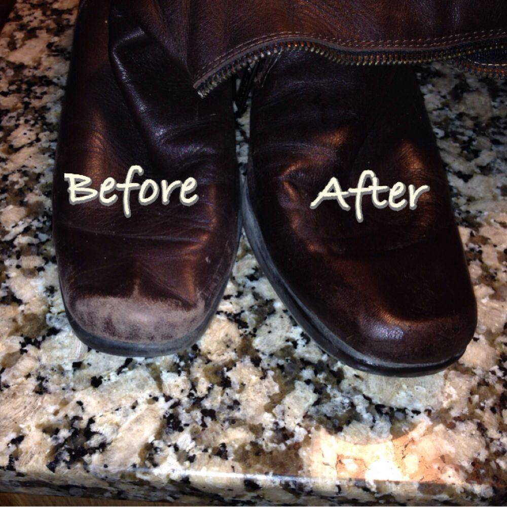 Fix Your Scuffed Boots And Make Them Shine Again Just A Little Dab Of Vaseline And A Cloth To Rub It In So Ea Shoe Repair Diy Diy Shoes Diy Leather