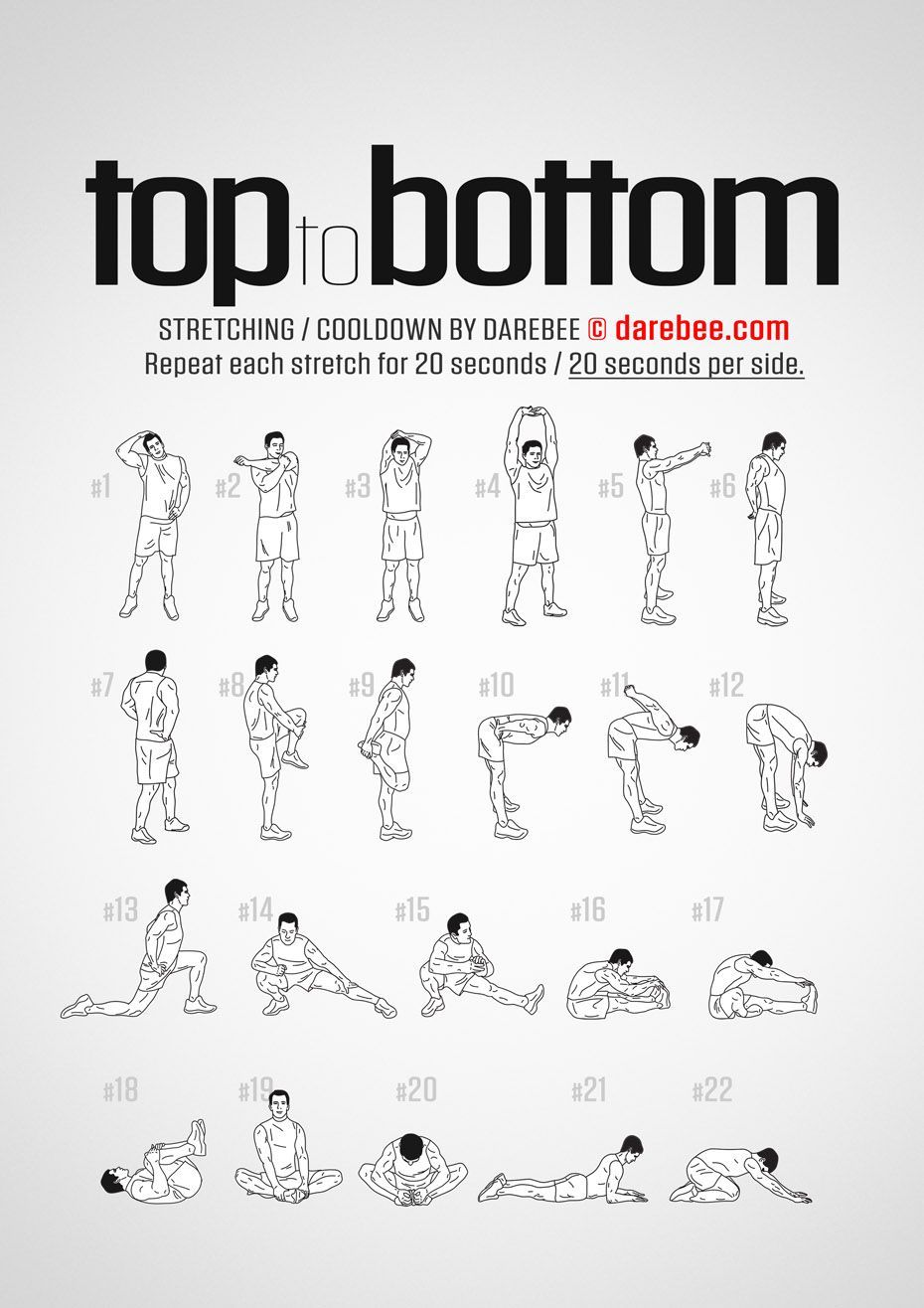 Top To Bottom Workout Stretch Cool Down Exercise