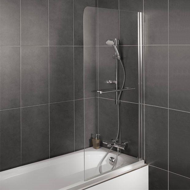 pare baignoire crystal 1 volet sdb ecran de baignoire. Black Bedroom Furniture Sets. Home Design Ideas