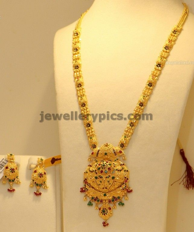 Latest Gold Haram designs 2013 in Hyderabad - Latest Jewellery ...