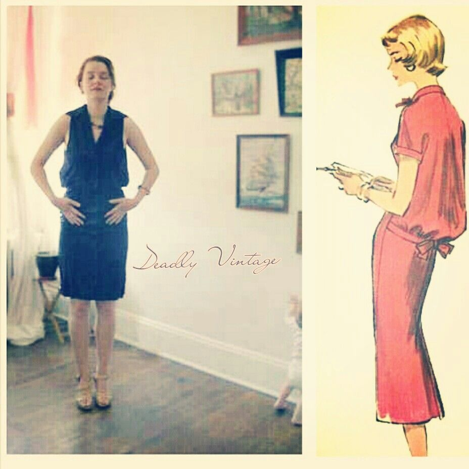 Late 1950s Slubbed Sack Dress Medium 68 A Variation