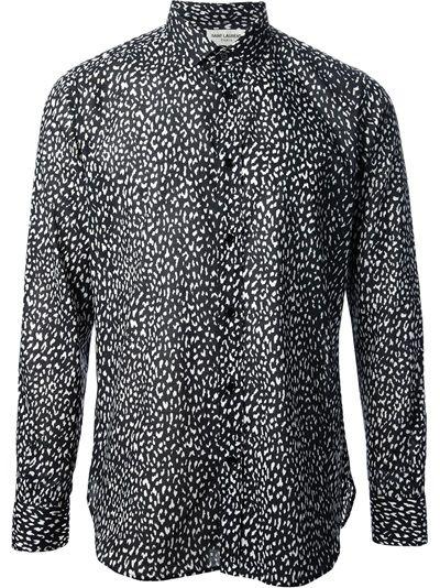 36f6348378 SAINT LAURENT Animal Print Shirt #farfetch | Blouses 2014 | Designer ...