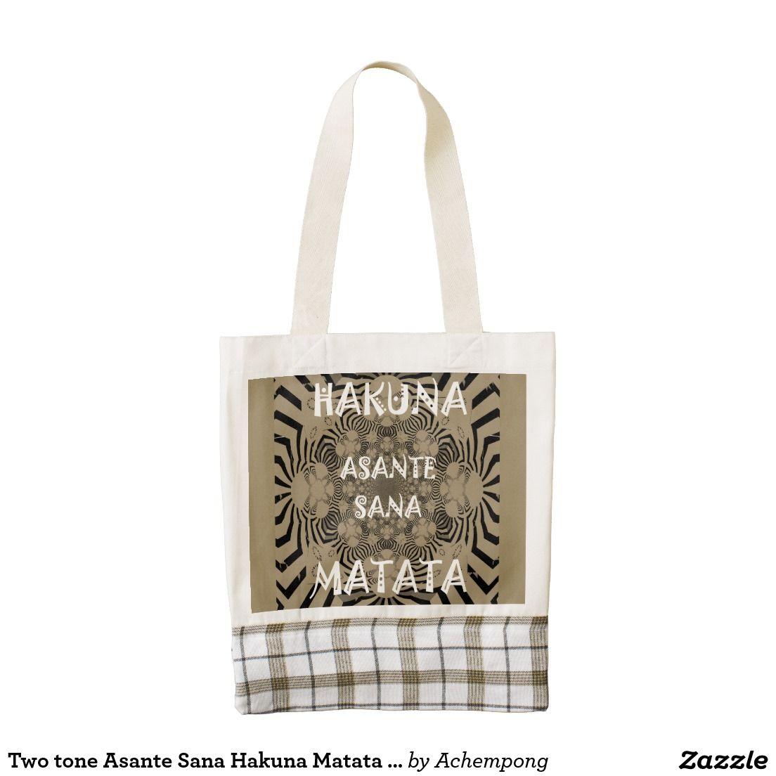 Two tone Asante Sana Hakuna Matata Beautiful women Zazzle  #Geschenke #Hakuna Matata beautiful #Fantastic Feminine Design Gifts - Shirts, Posters, Art, & more Gift IdeasHEART Tote Bag