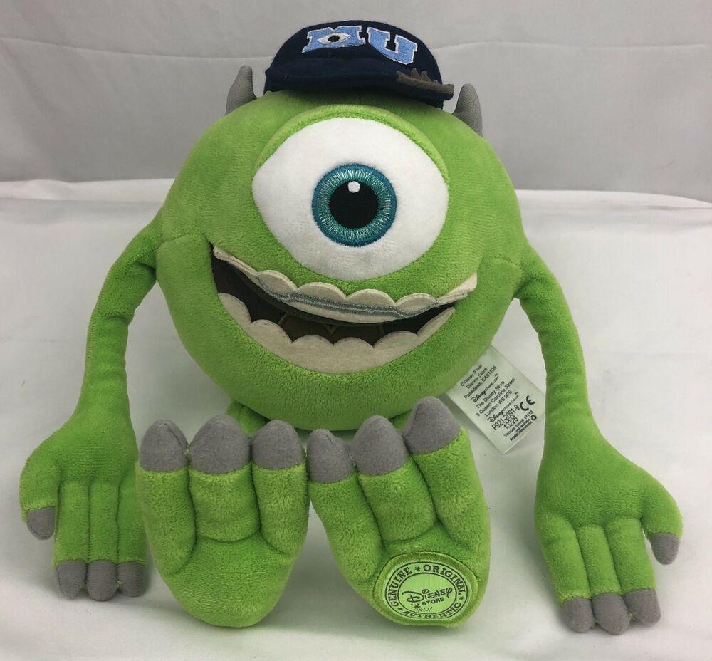Monsters University Mike Wazowski Monster Plush Toy With Mu Hat Disney Store Disney Myagkie Igrushki Deti