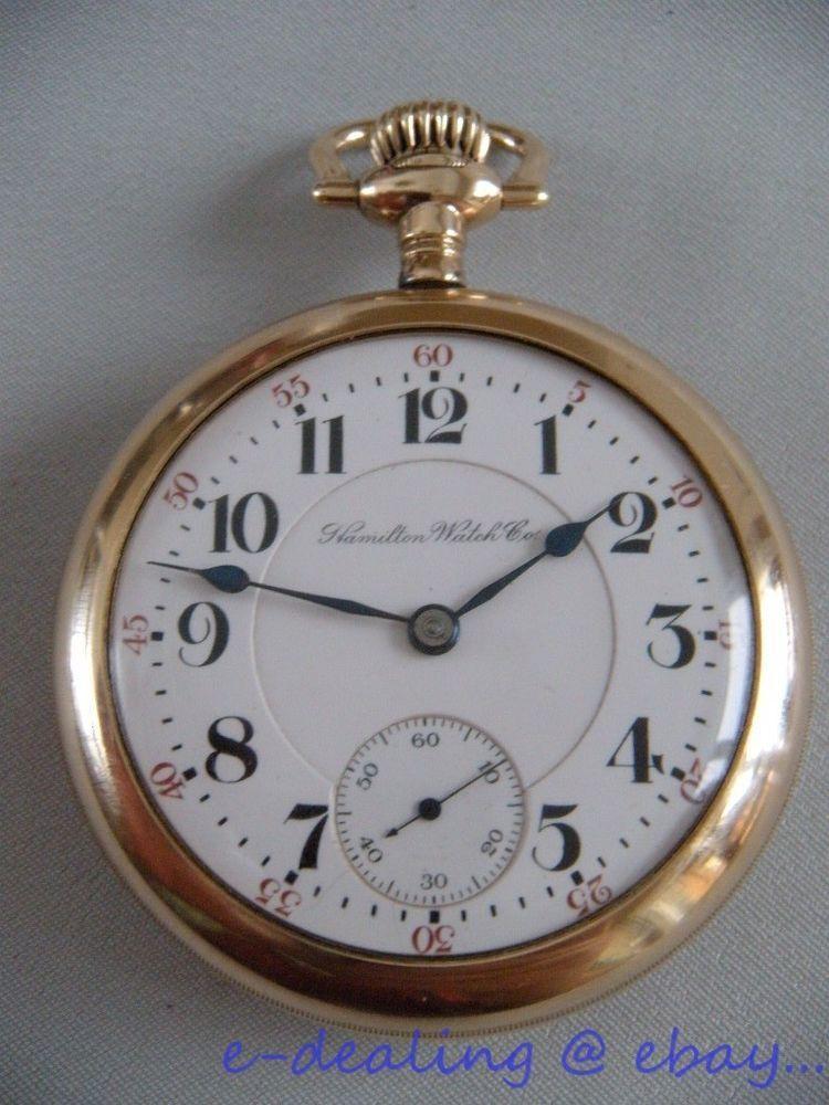 bcfb33d87 c.1903 HAMILTON 940 RAILROAD 21 Jewels 18s Pocket WATCH~Gold Filled ...