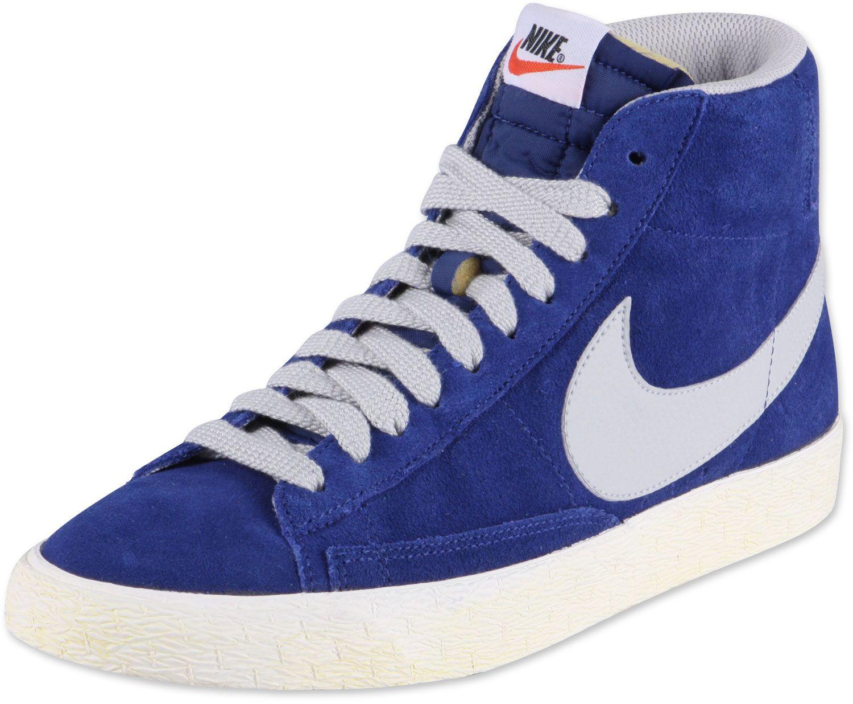 watch 39685 aa47e Nike Blazer High Vintage shoes blue grey