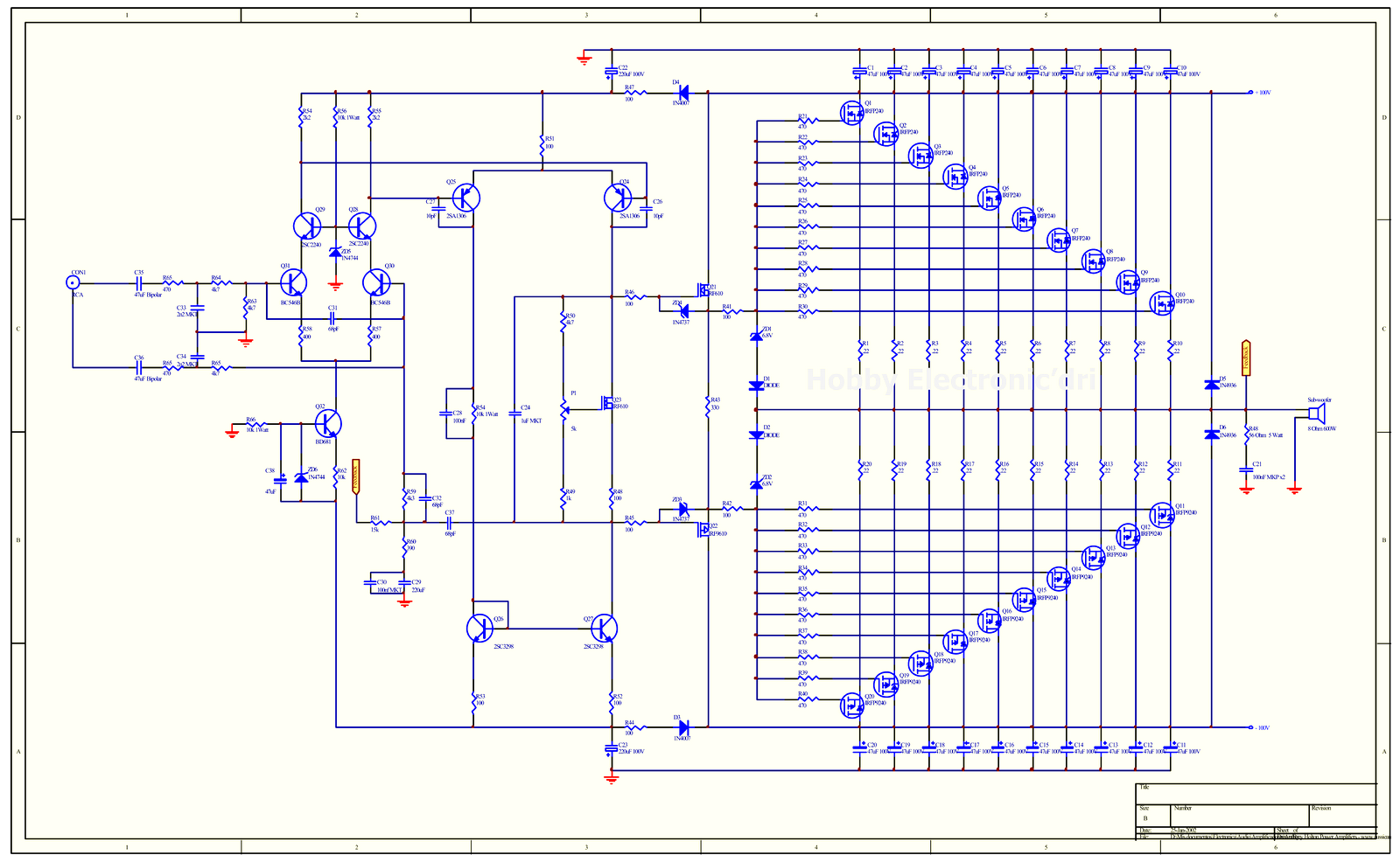 Car Audio Amplifier Circuit And Explanation Electronic Circuits