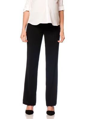 7f3e64b390529 Motherhood Maternity Petite Secret Fit Belly Bi-stretch Suiting Fit And  Flare Maternity Pants
